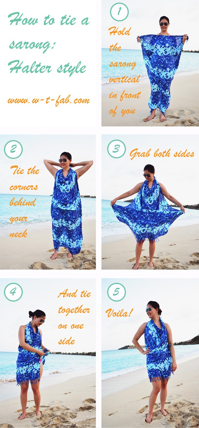 how to tie a sarong by popular San Francisco style blogger What The Fab