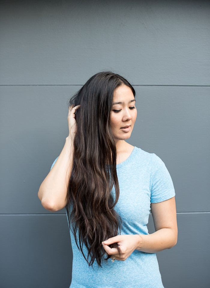 No Heat Beach Waves Hair Tutorial featured by popular San Francisco style blogger, What The Fab
