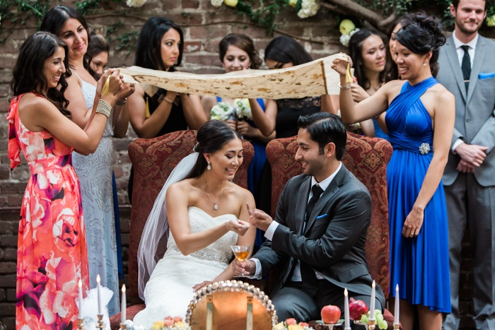 persian and american wedding ceremony