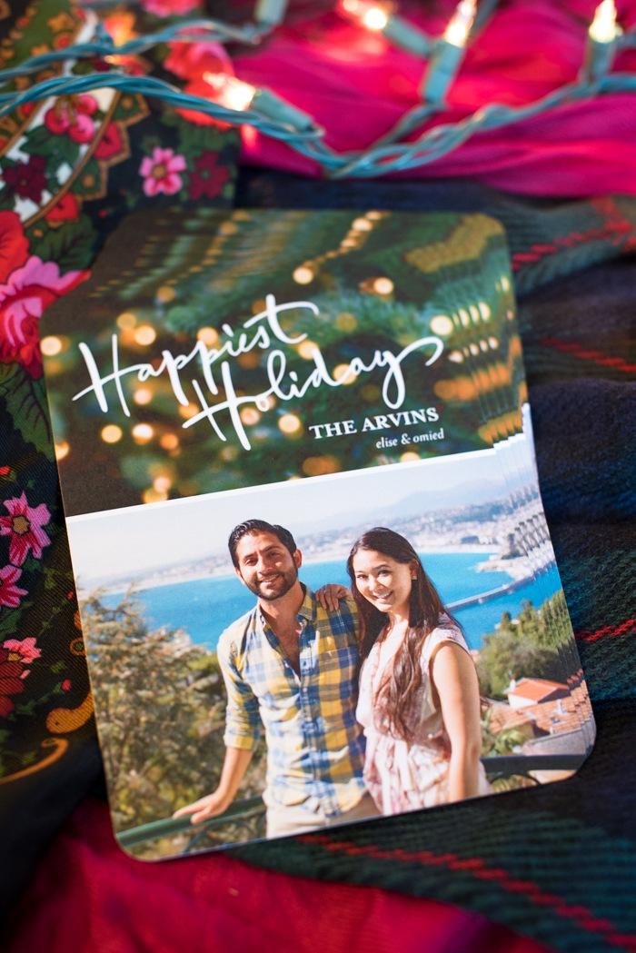 cute couple holiday card