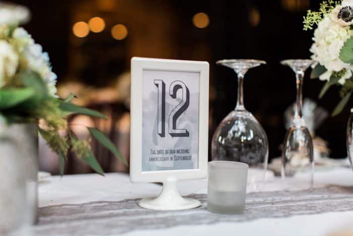 cute wedding table number idea