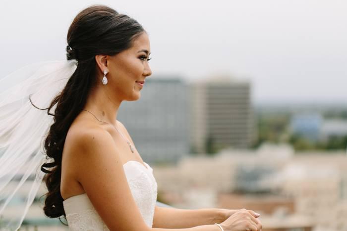 half up bridal hair