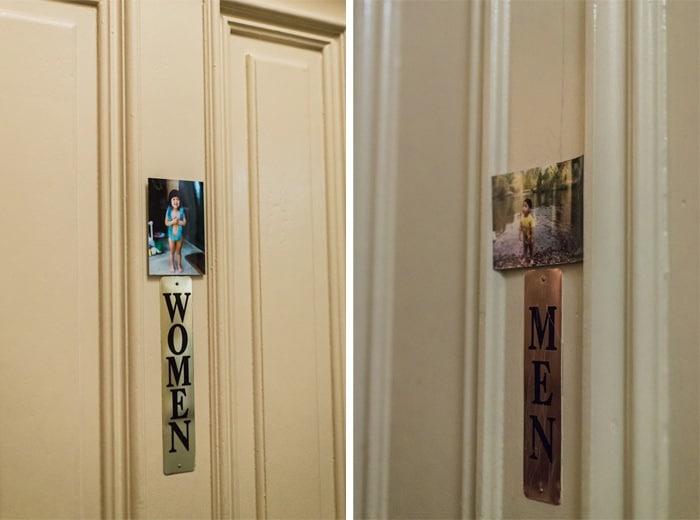 restroom wedding idea