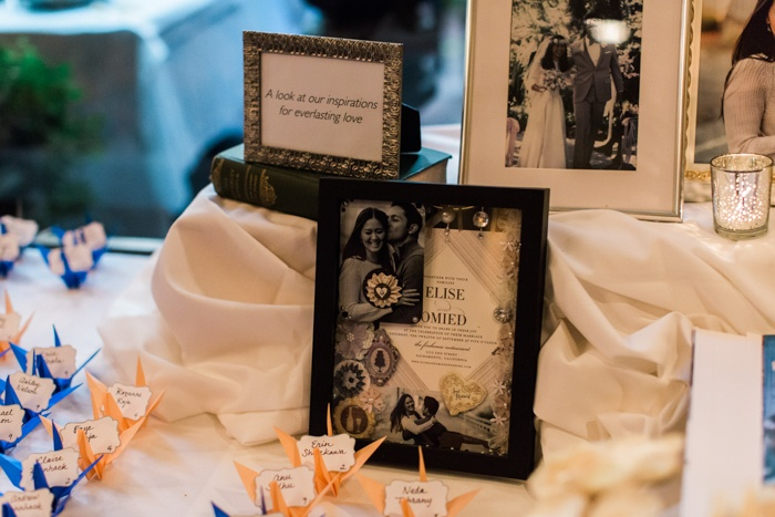 wedding sign in table