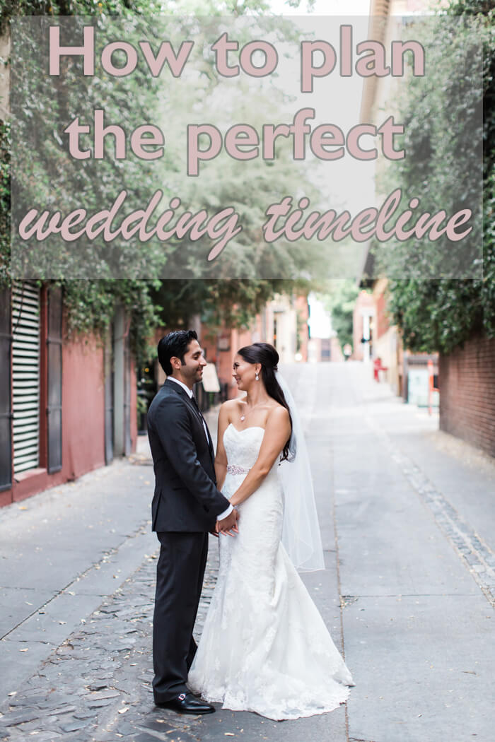 How to plan the perfect wedding timeline