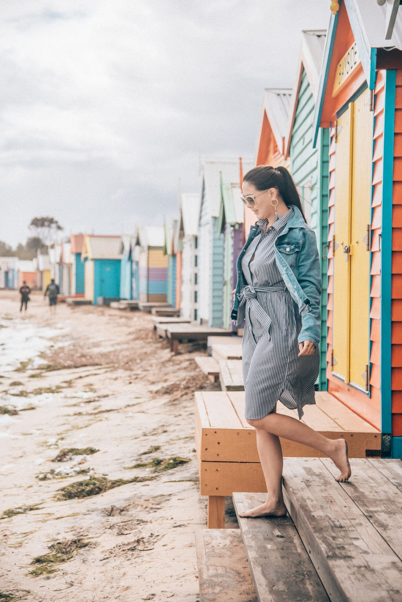 Visiting the iconic Brighton Bathing Boxes featured by popular San Francisco travel blogger, What The Fab