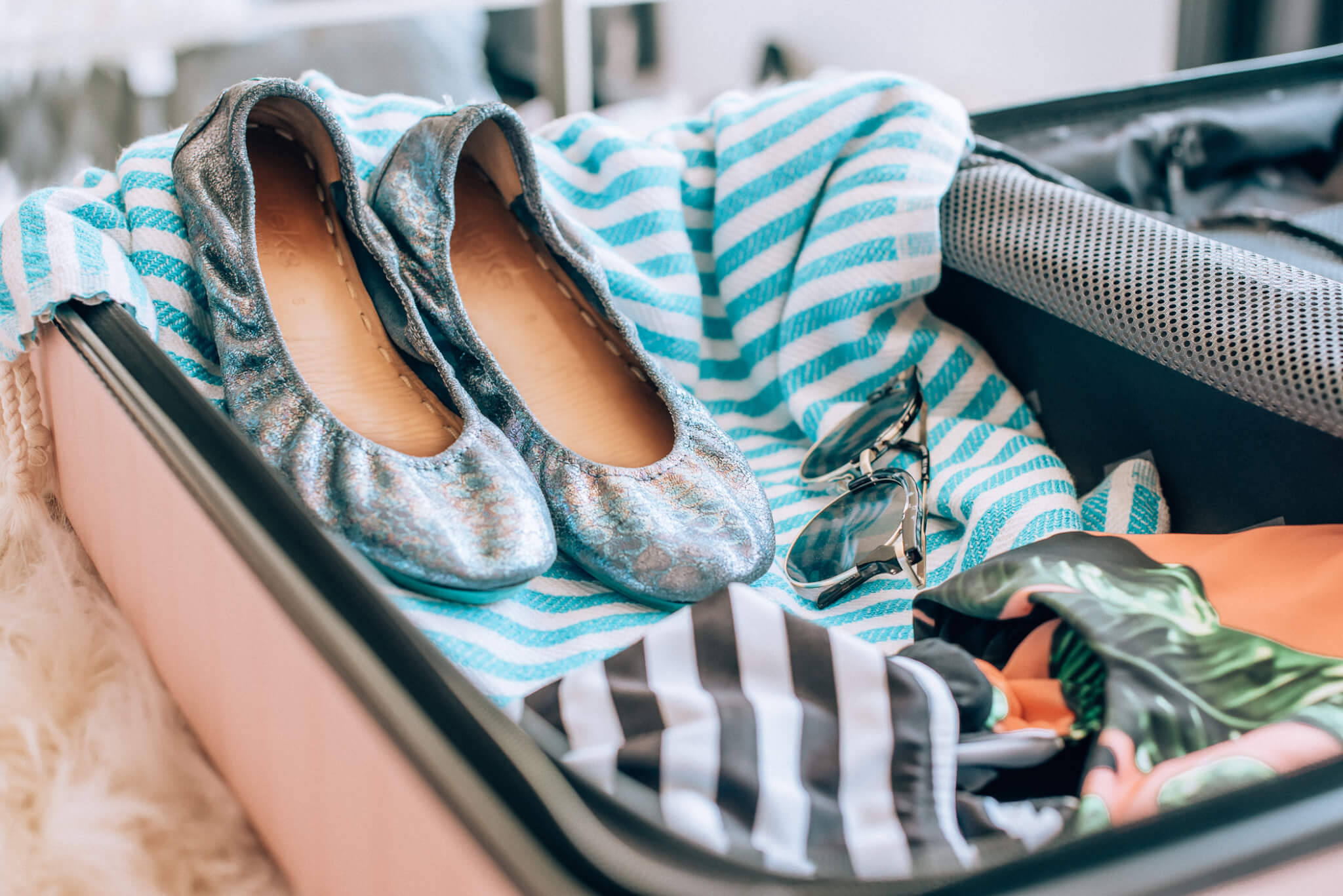 Tieks Shoes featured by popular San Francisco travel blogger, What The Fab