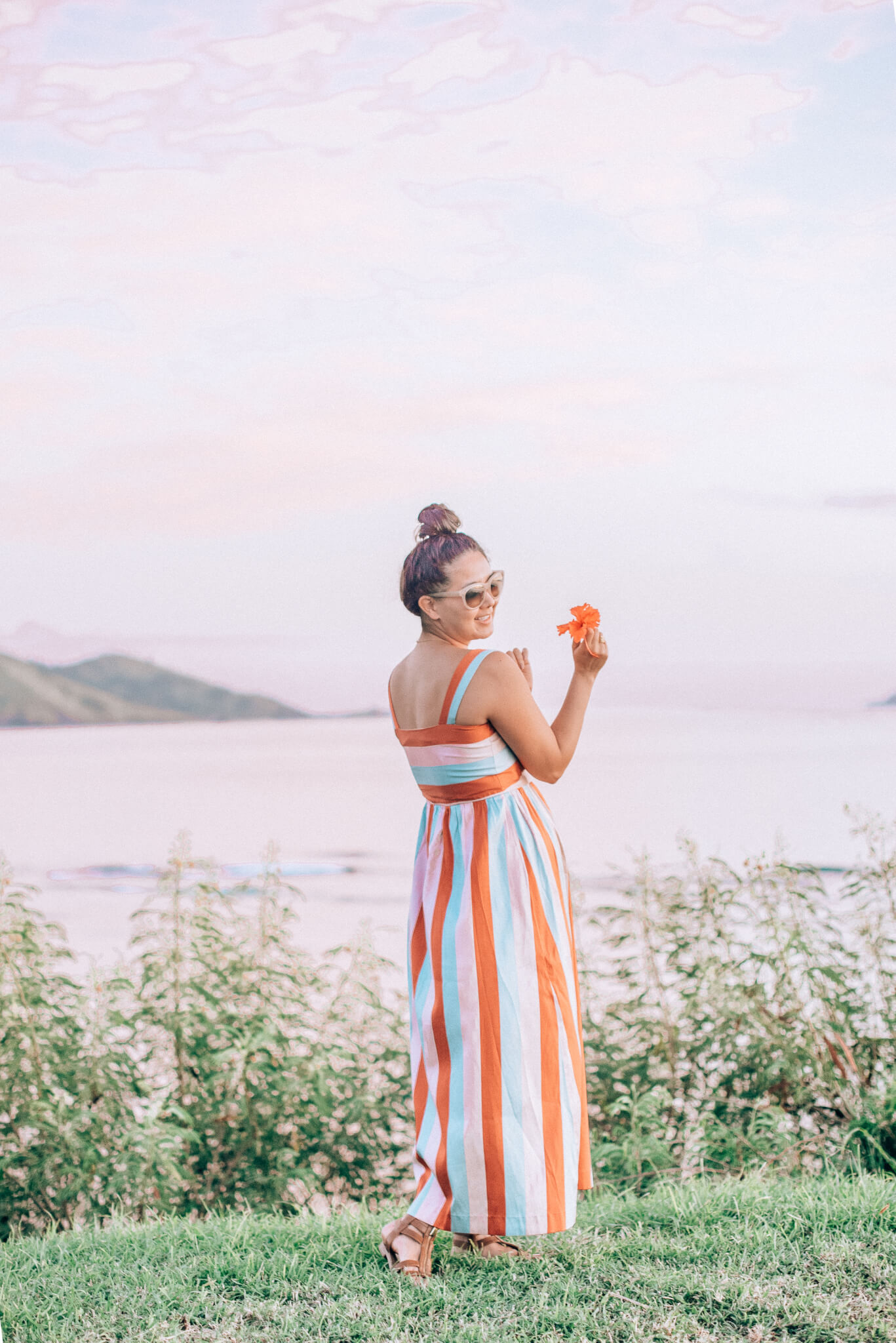 Valentino Striped Dress - Sherbet Sunset featured by popular San Francisco fashion blogger What The Fab