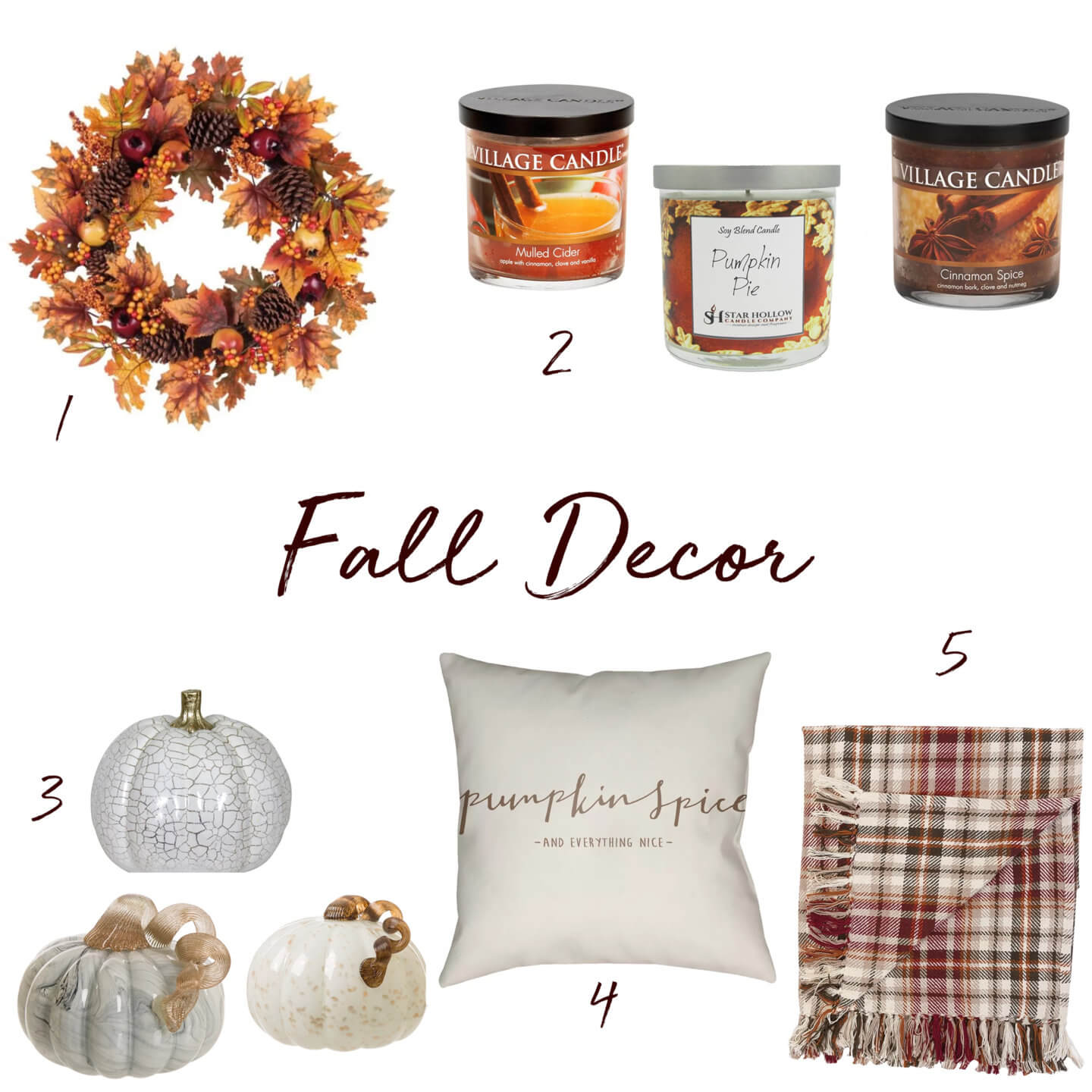 Five chic ways to add some fall home decor to your life