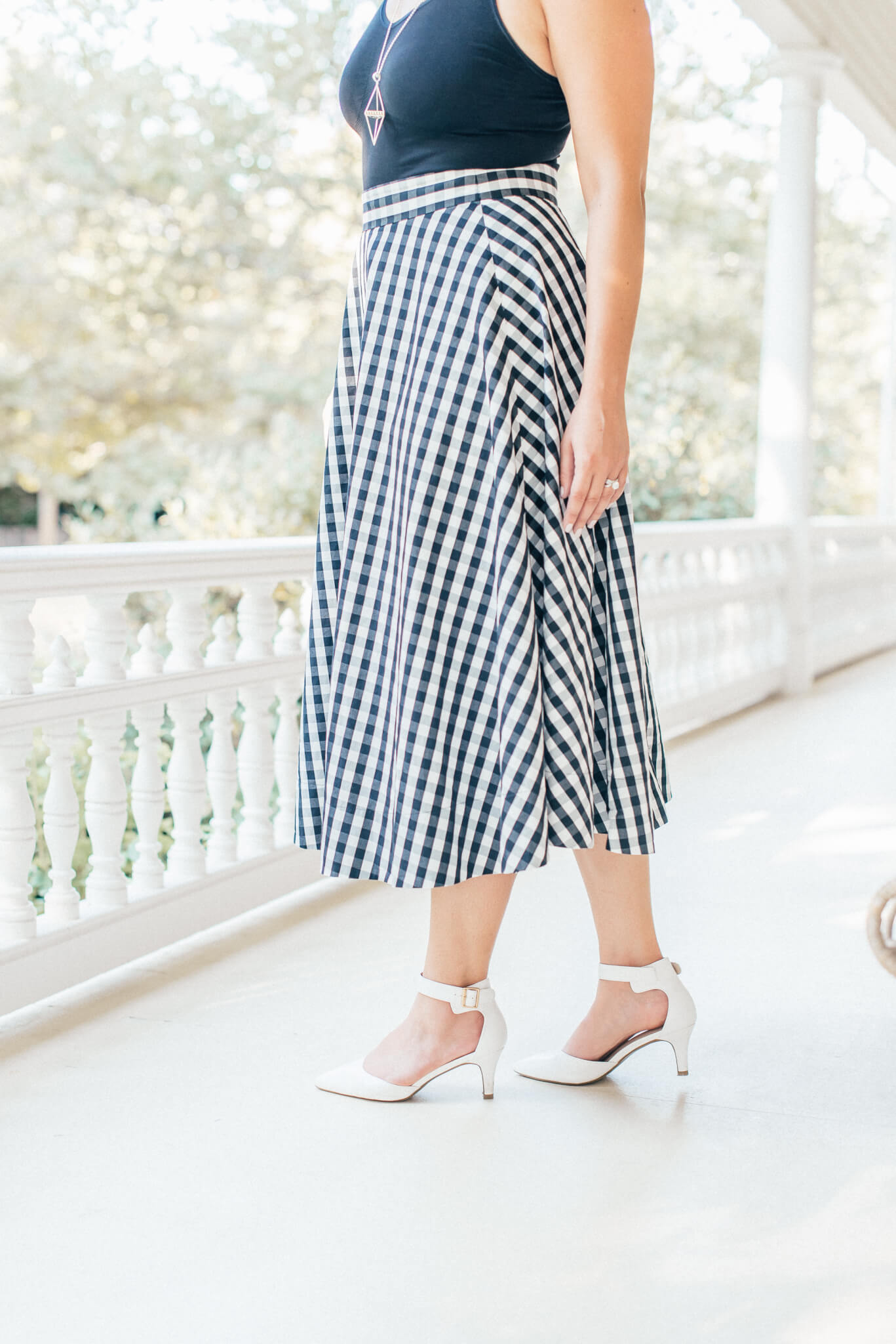 Amazon | Vacation | Travel Style | Kate Spade Gingham Circle Skirt in the Napa Valley featured by top San Francisco fashion blog What The Fab