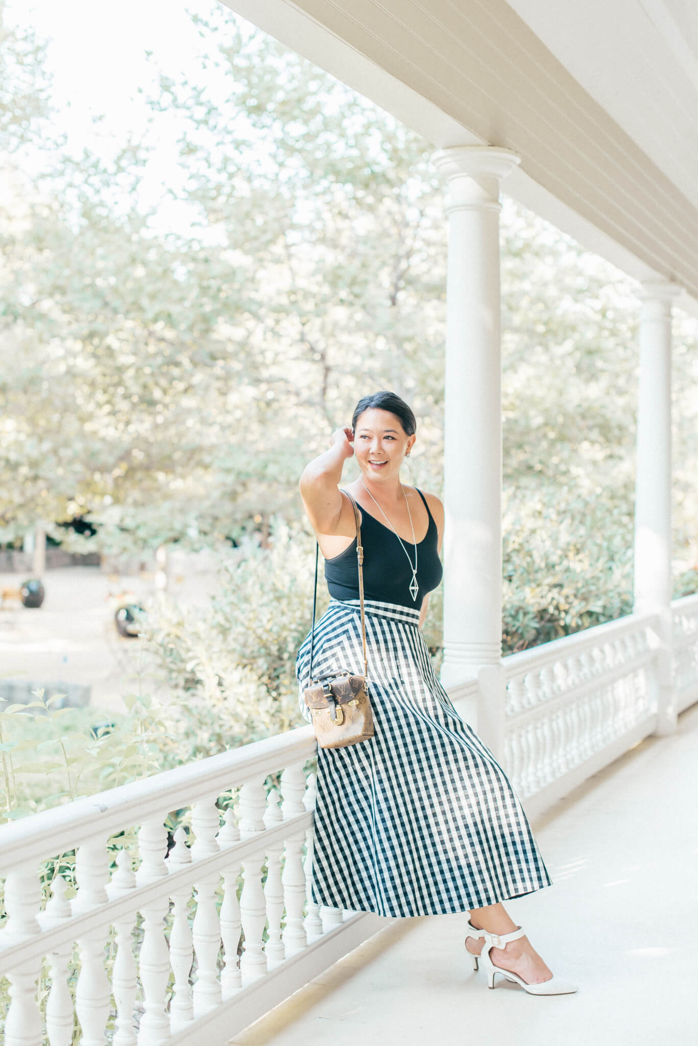 Kate Spade Gingham Circle Skirt in the Napa Valley