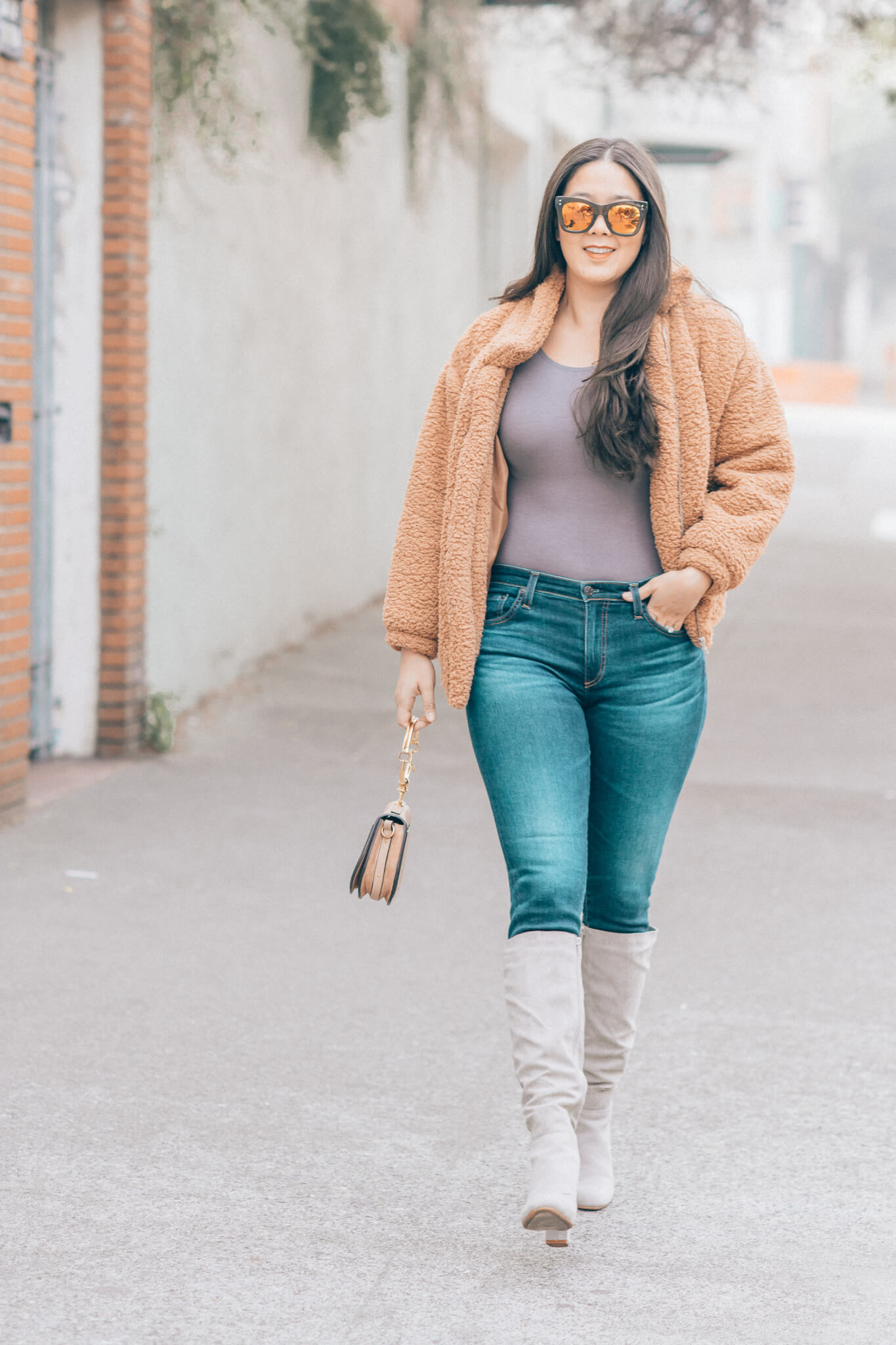 Zappos | How to wear a teddy bear coat featured by top San Francisco fashion blog What The Fab