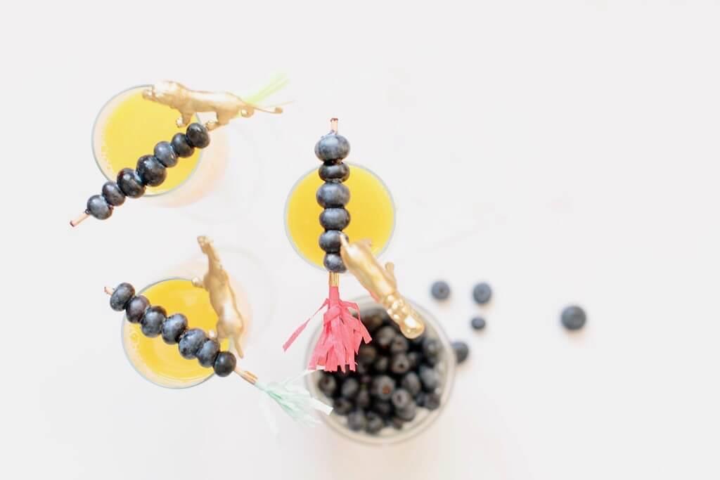 mimosa fruit skewer