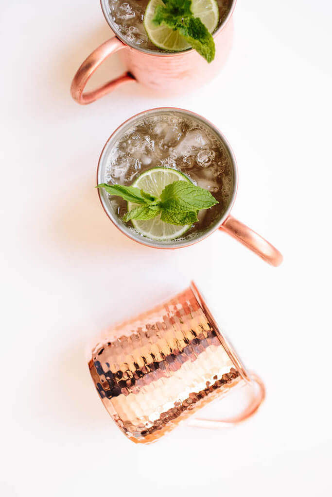 Ingredients in a Moscow Mule: Low-Cal Version