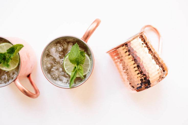 Ingredients in a Moscow Mule, by lifestyle blogger What The Fab