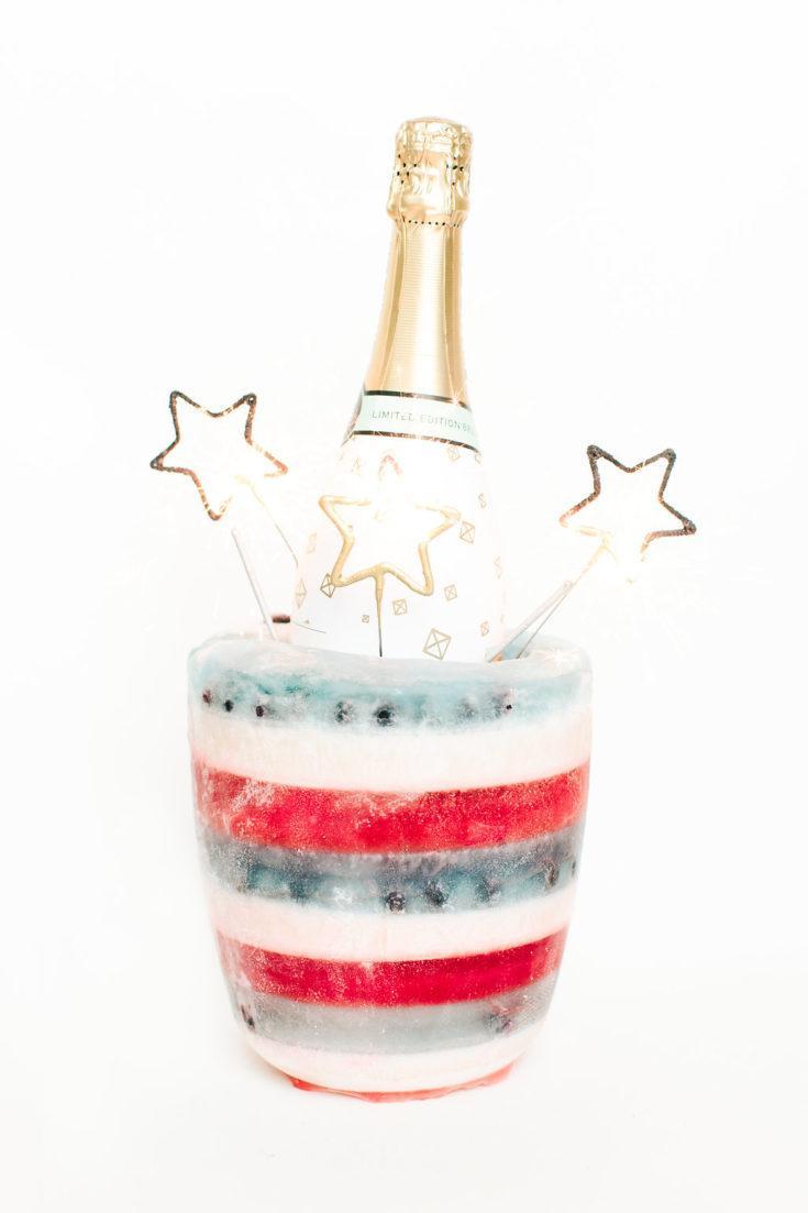 Food La La's Fourth of July Champagne Bucket
