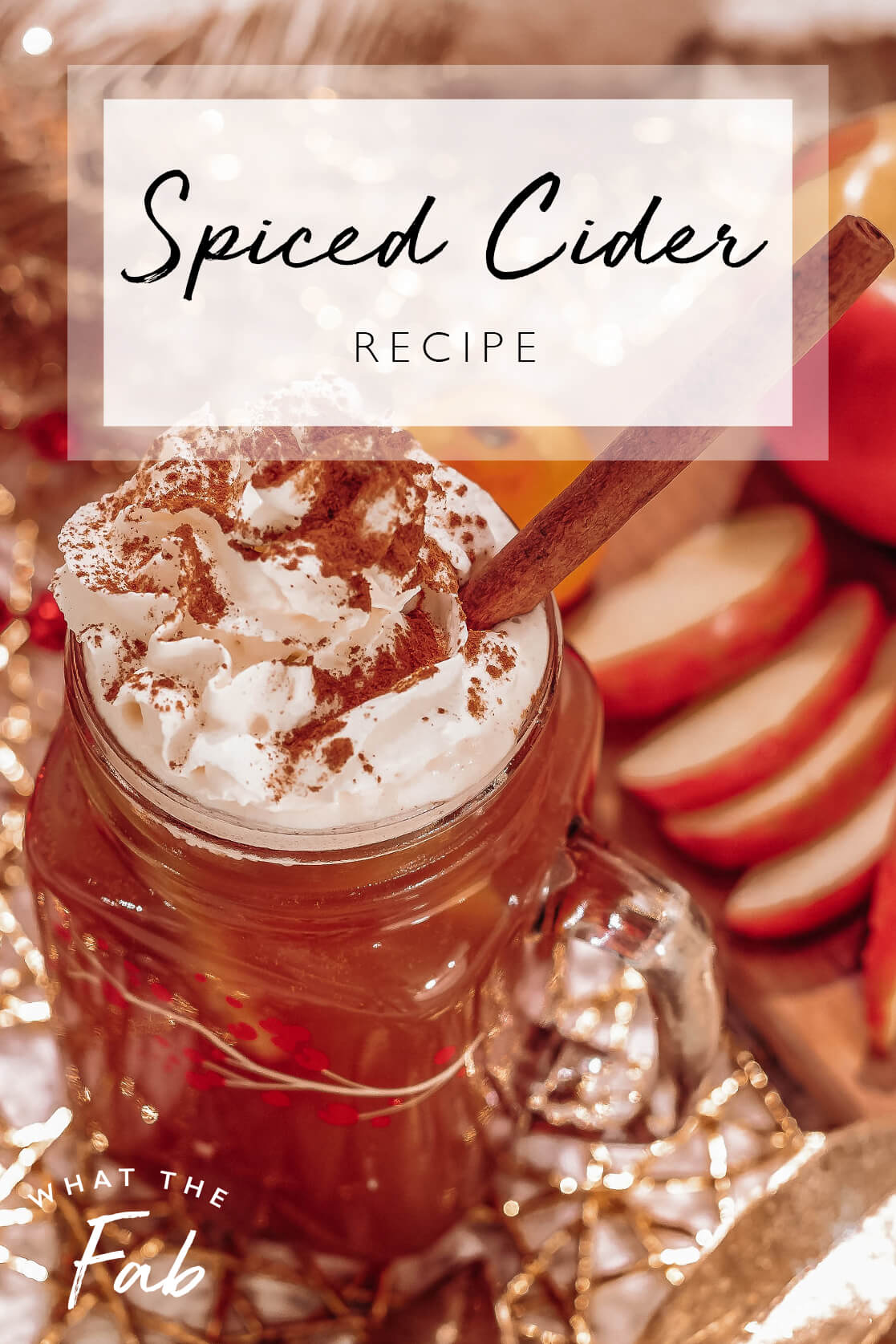 spiced cider with rum