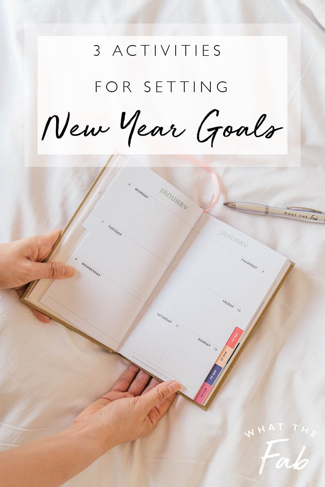 How to set goals for the year, by blogger What The Fab