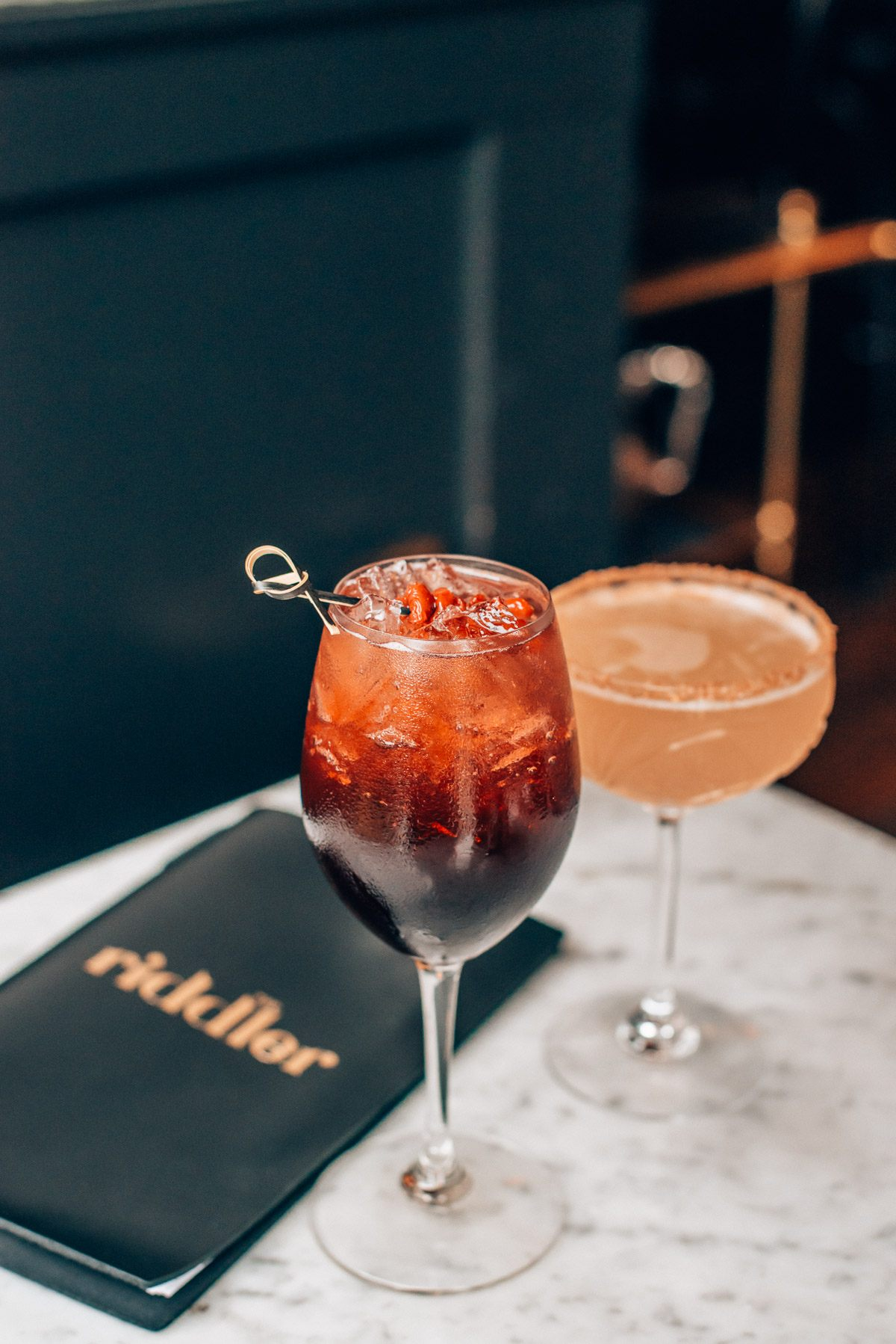 The Riddler SF, a champagne bar in San Francisco
