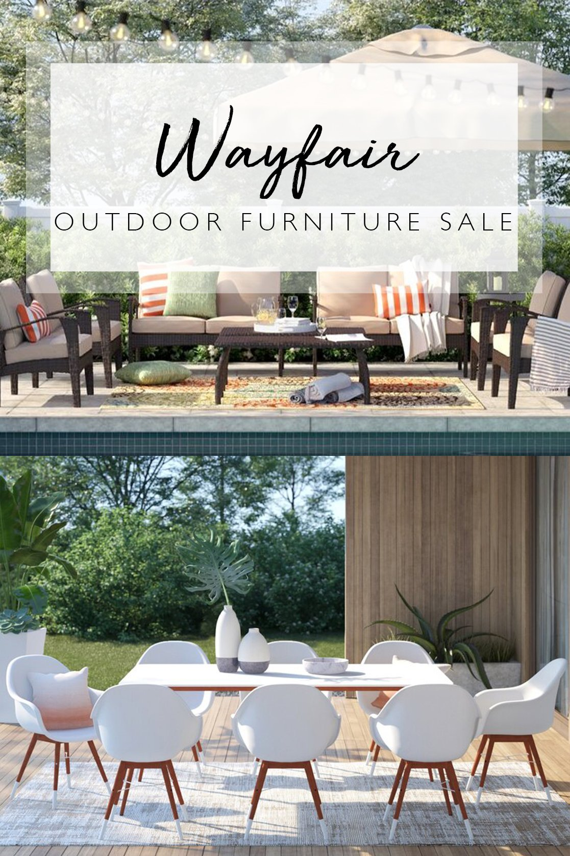 Wayfair outdoor furniture sale picks, by lifestyle blogger What The Fab