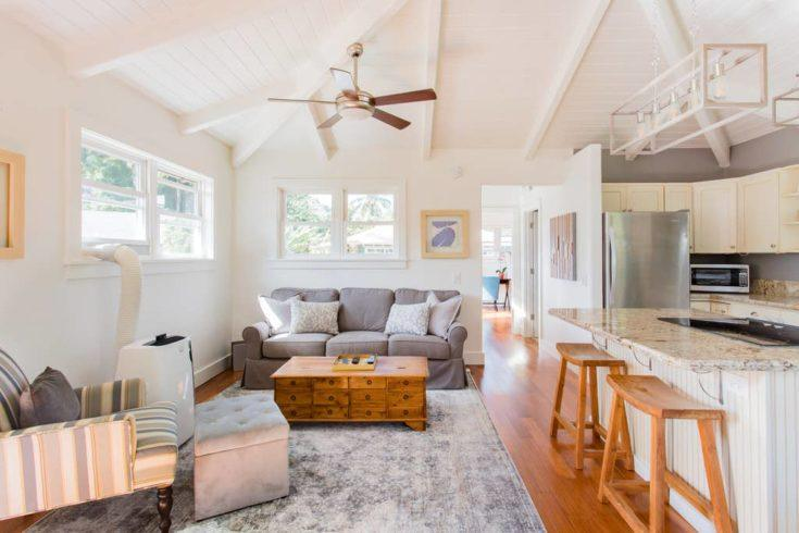 7. Cycle or Walk to Hanalei Bay from This Bright and Airy Home