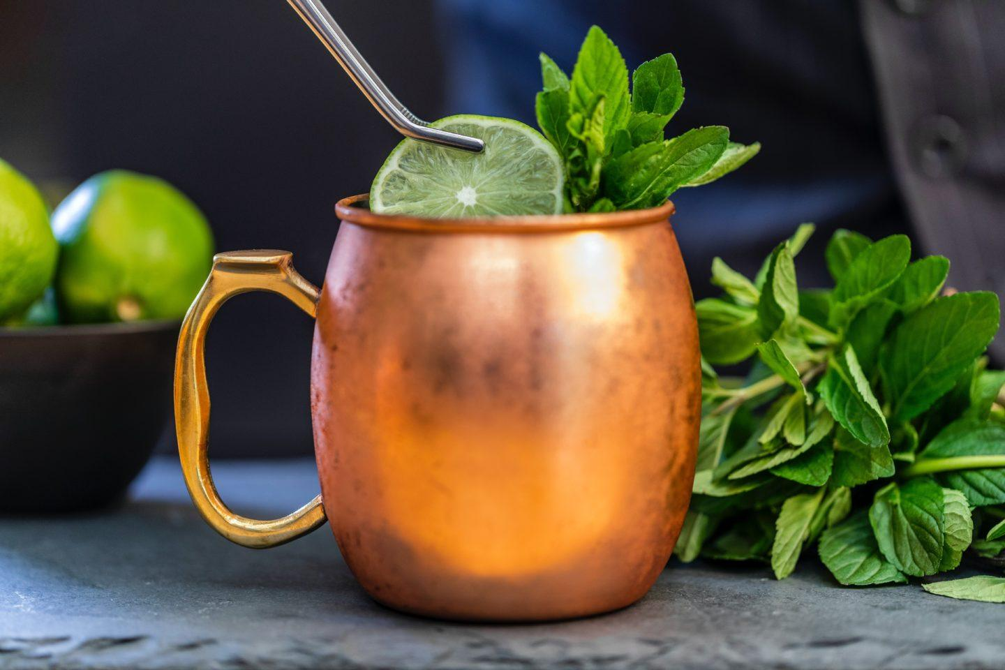 Moscow Mule ingredients, by lifestyle blogger What The Fab