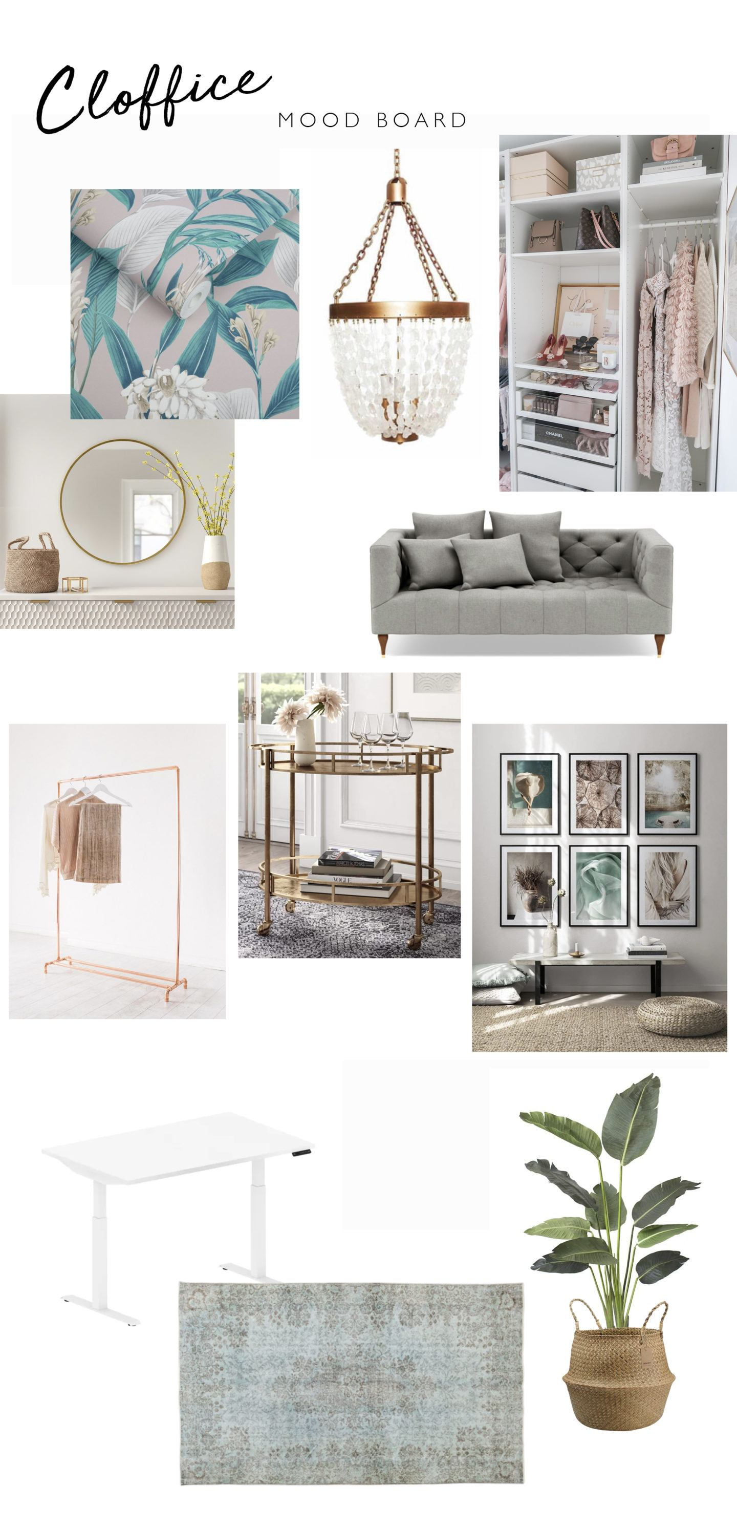 Cloffice ideas, by lifestyle blogger What The Fab
