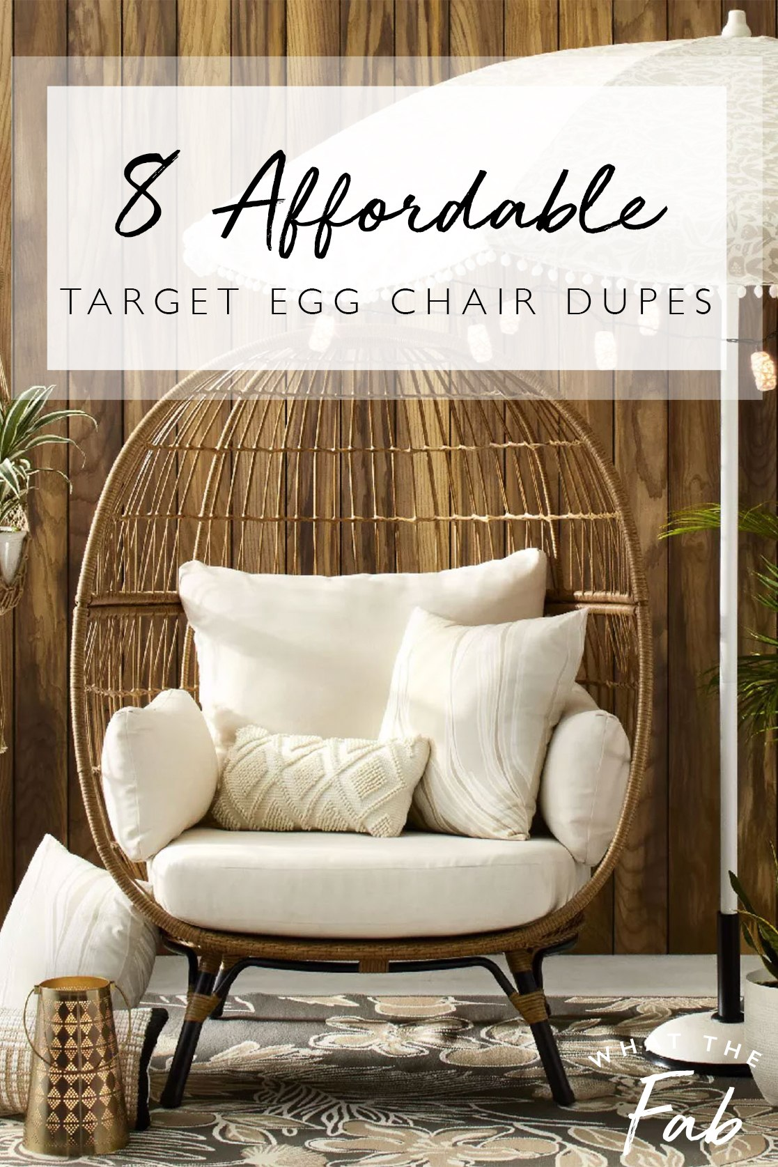 target egg chair and affordable egg chair dupes, by lifestyle blogger What The Fab