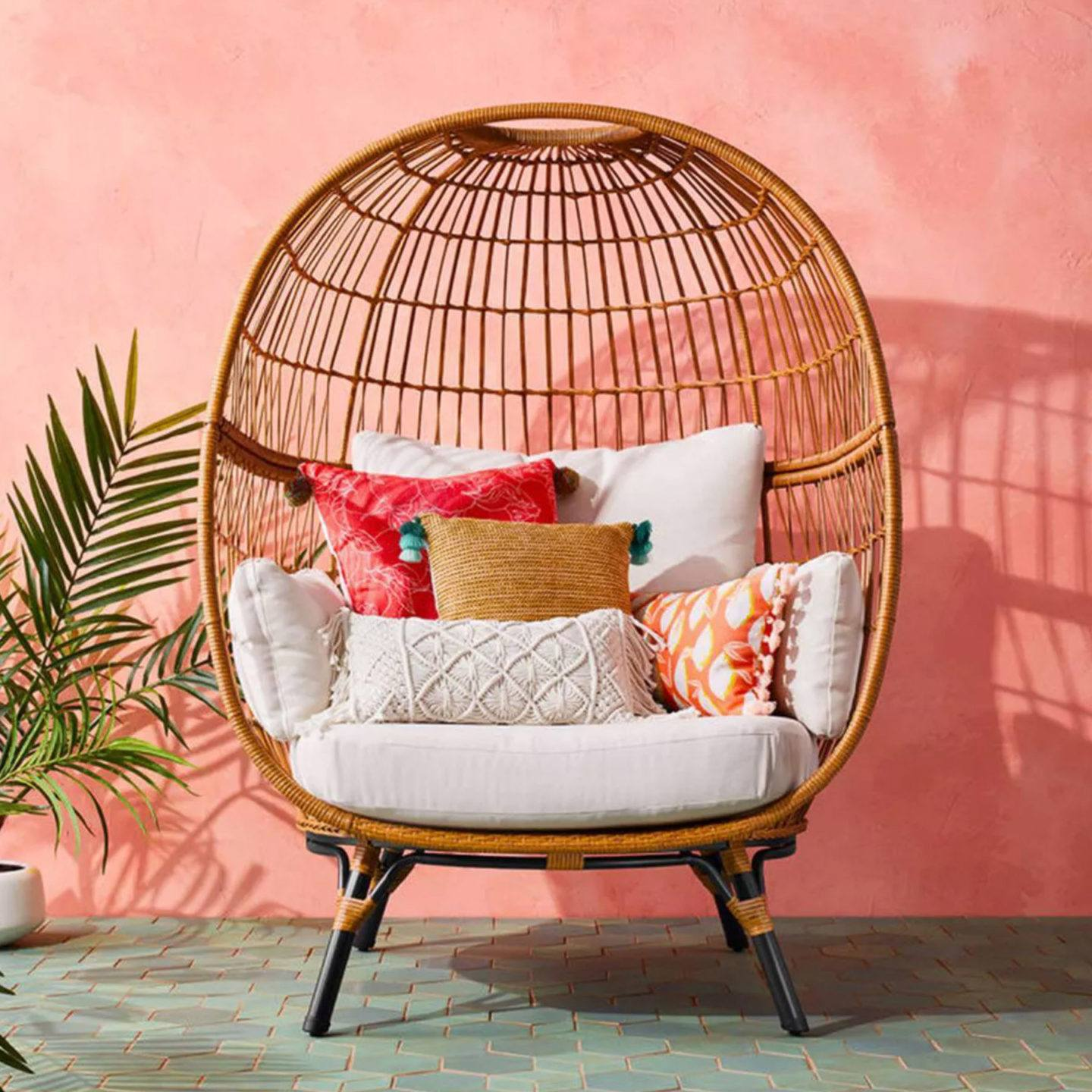 affordable patio egg chairs, by lifestyle blogger What The Fab