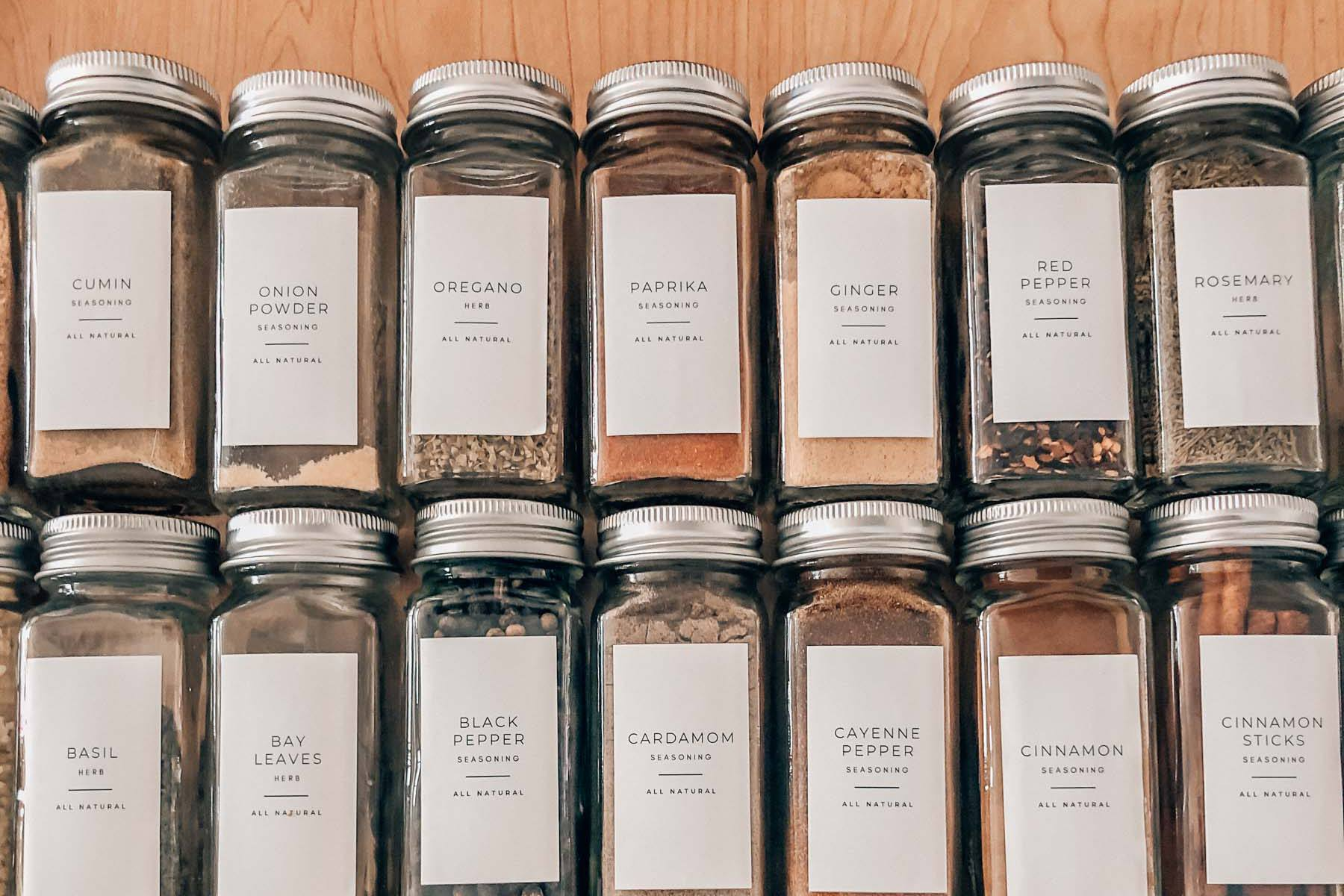 How to Make Your Spice Drawer Aesthetic AF