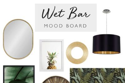 Tropical Home Bar Mood Board