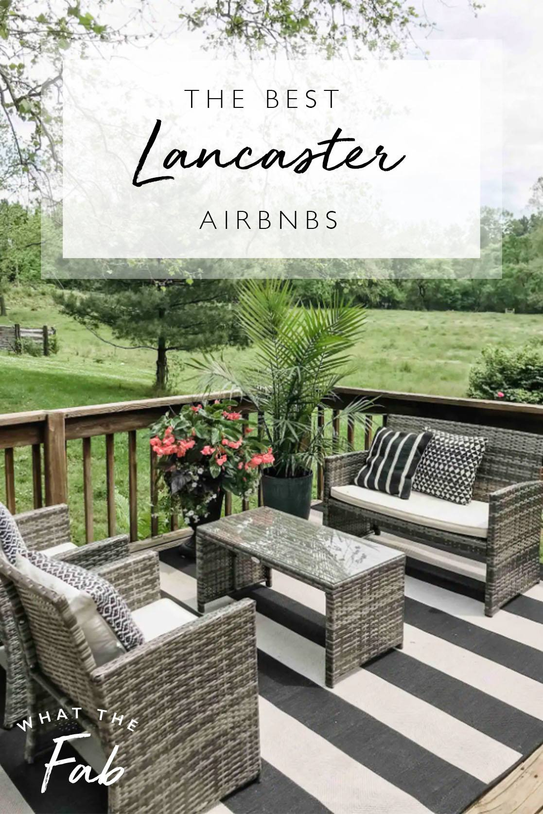 Airbnb Lancaster PA best places to stay, by Travel Blogger What The Fab