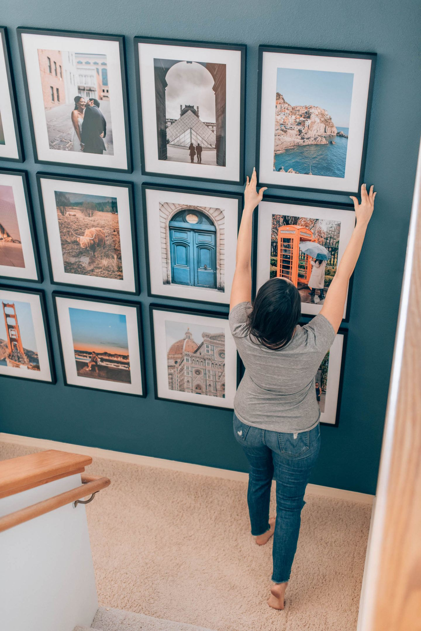 Framebridge gallery wall, by lifestyle blogger What The Fab