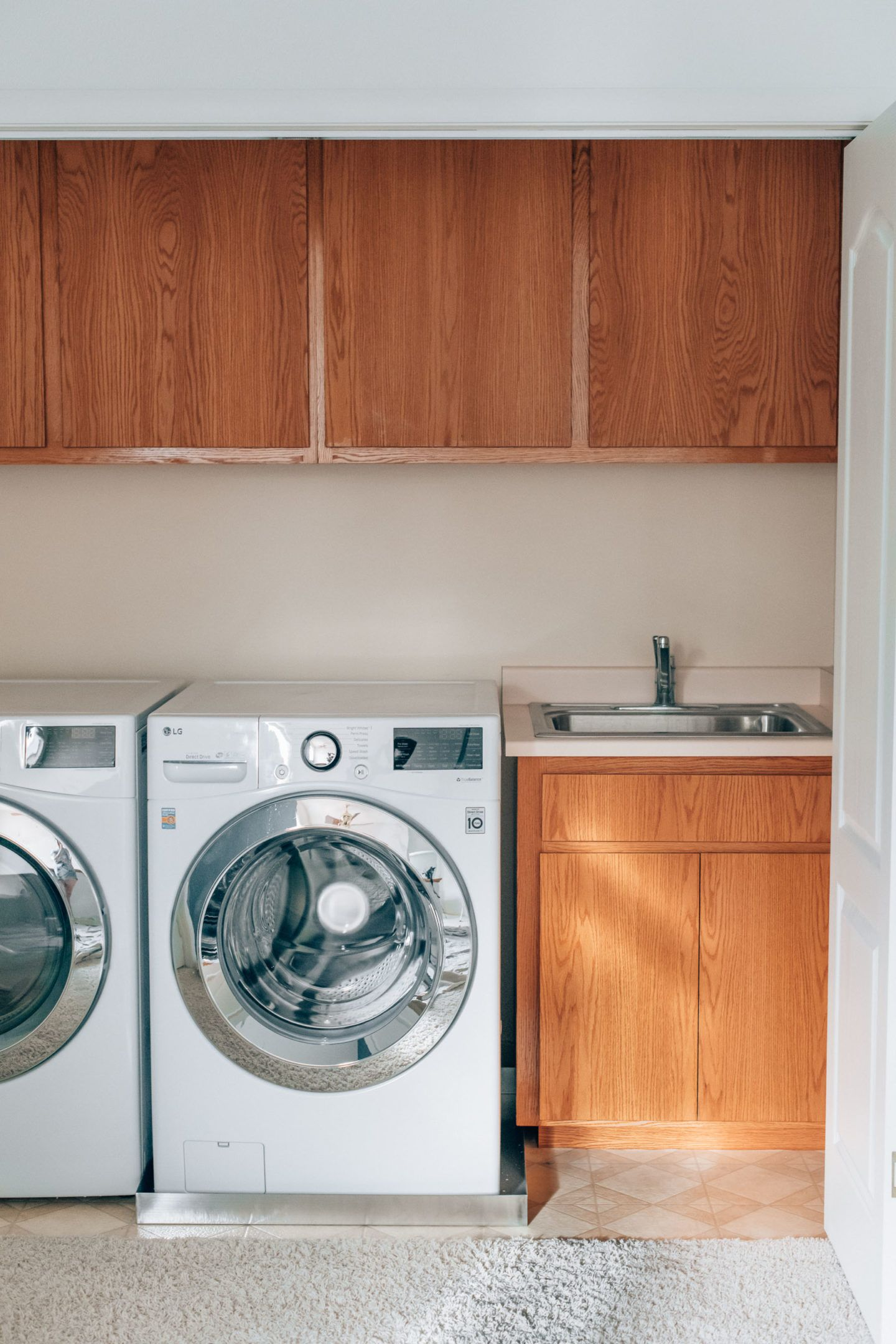 Laundry room makeover, by lifestyle blogger What The Fab