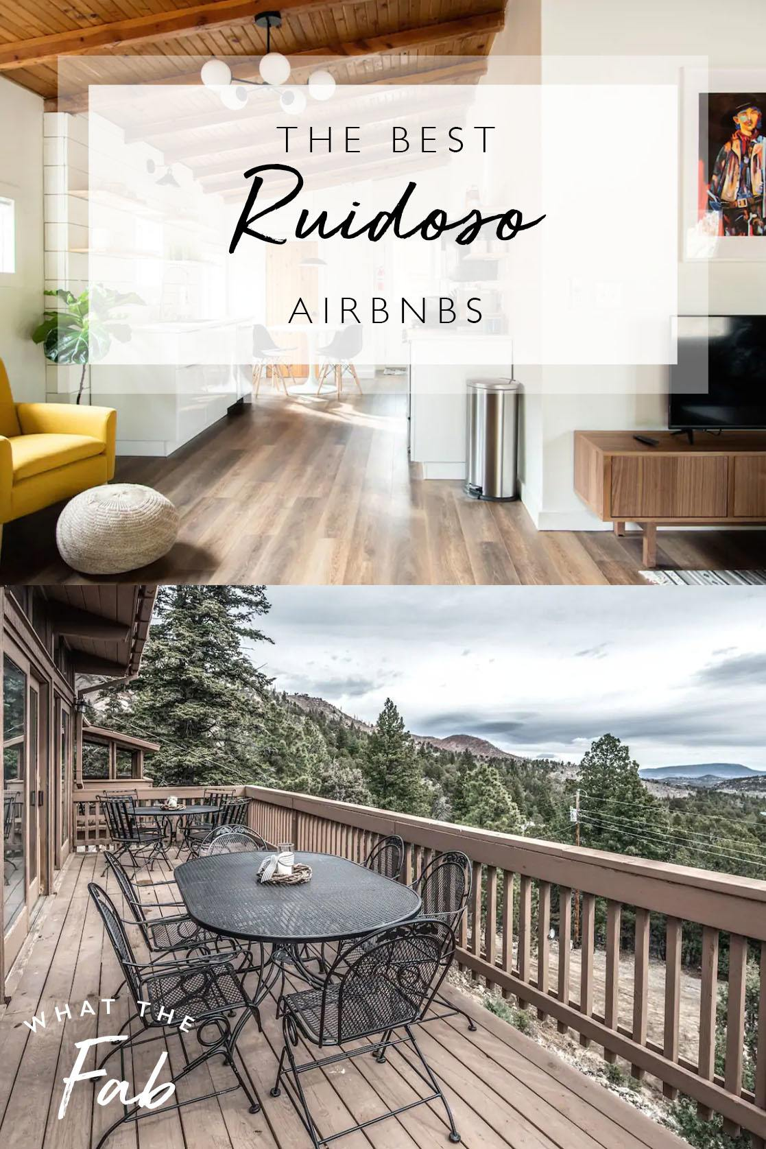 Airbnb Ruidoso guide, by Travel Blogger What The Fab
