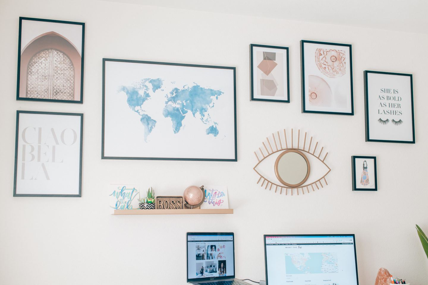 Desenio gallery wall, by lifestyle blogger What The Fab