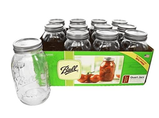 Ball Regular Mouth Canning Jar 1 qt. 12 pack