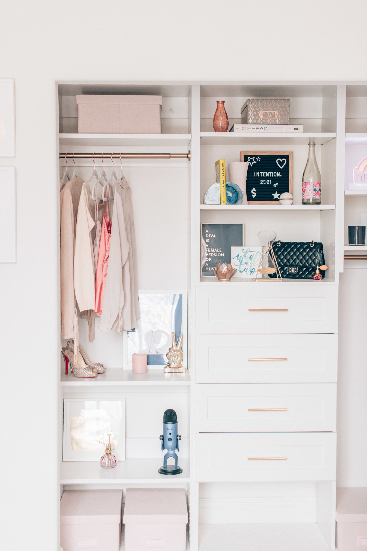 Modular closets cloffice design, by lifestyle blogger What The Fab