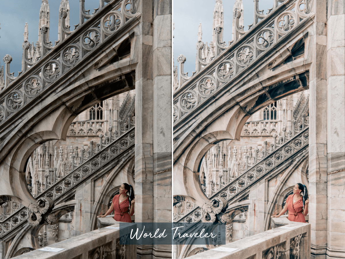 Professional lightroom presets, by travel blogger What The Fab