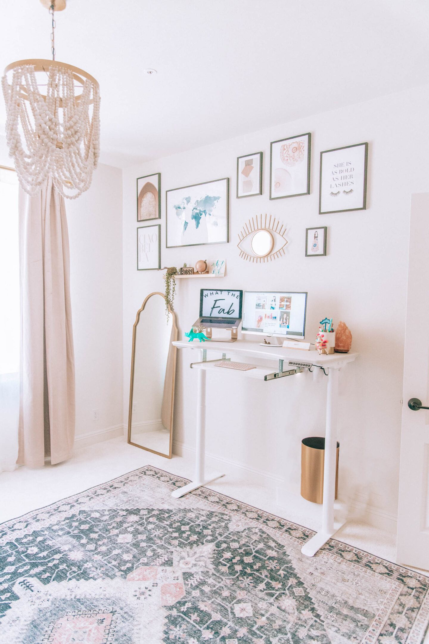 Blogger office design, by lifestyle blogger What The Fab