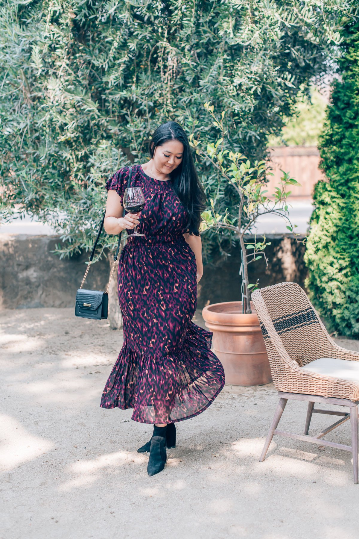 Napa wine tasting dress, by travel blogger What The Fab
