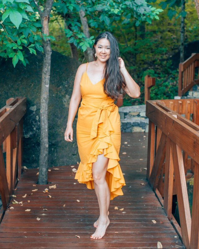 💛💛💛 Loving a pop of yellow for a tropical vacay outfit. Dress is from @revolve. // Trying to be better about linking on LTK so you guys can shop this dress on the app! http://liketk.it/2Iare #liketkit @liketoknow.it #LTKtravel #LTKstyletip #wtfabtravel #costarica
